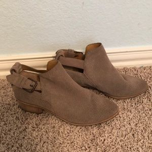 Dolce Vita Gray Suede Ankle Booties